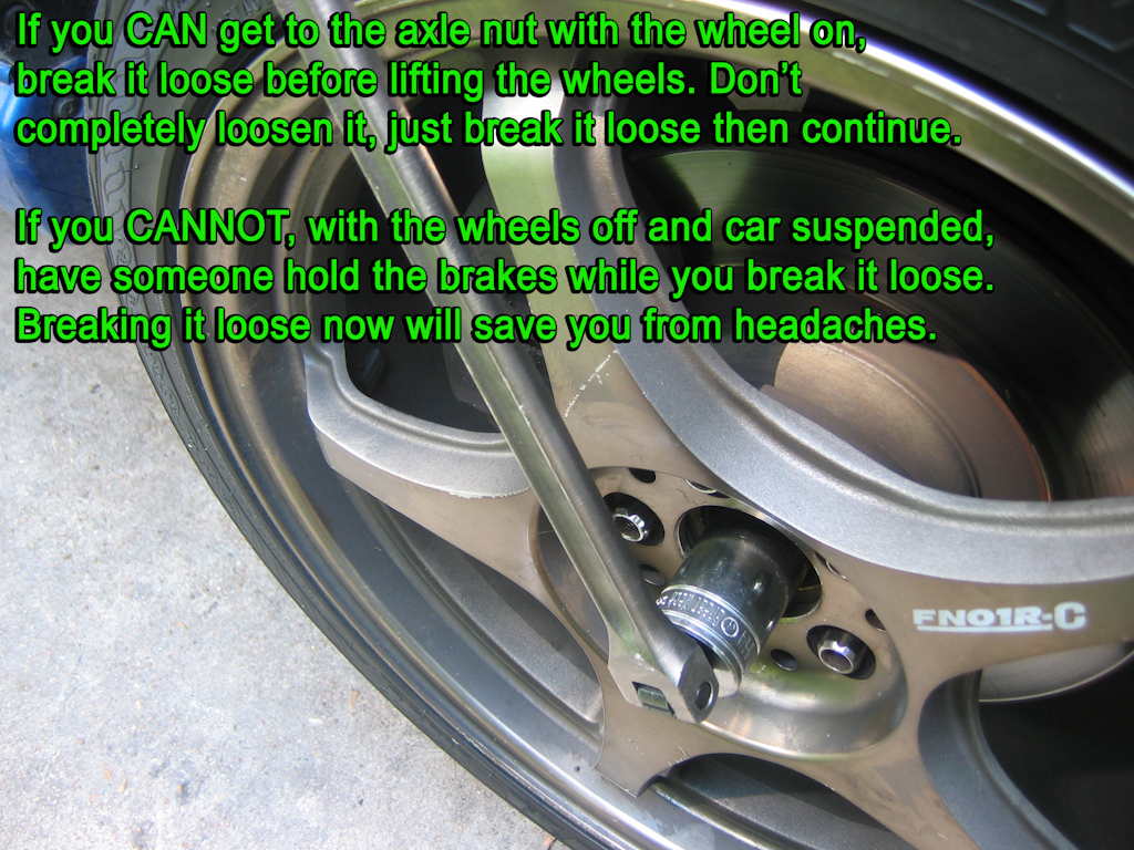 Wheel Bearing Replacement Gurus Guide W Pics Nasioc Wrx Exhaust Diagram To Start Like Stated In The Pic Youll Have Get 1 4 Axle Nut Loose Easiest Break It With Tires On Ground If You Cant Someone